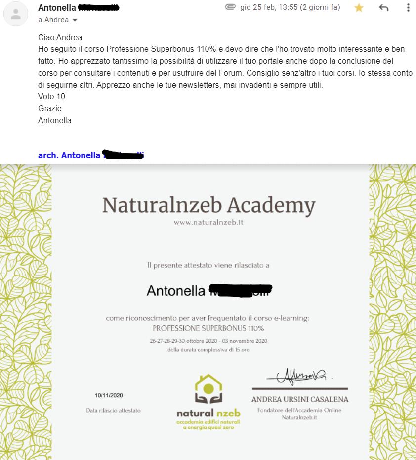 Corso online superbonus 110% recensione Naturalnzeb.it