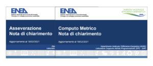 Superbonus 110 chiarimenti ENEA computo asseverazioni