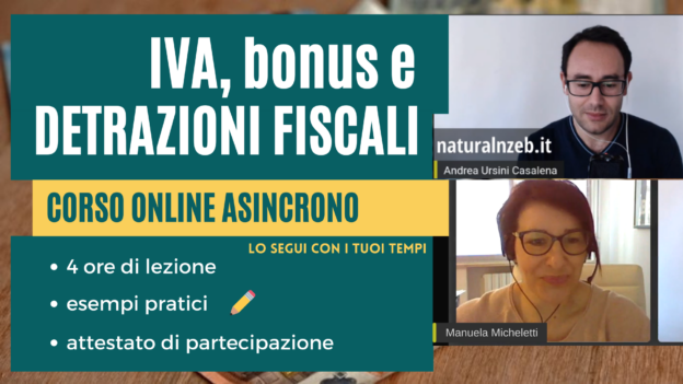 IVA bonus detrazioni fiscali corso online