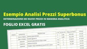 Esempio analisi prezzi superbonus 110