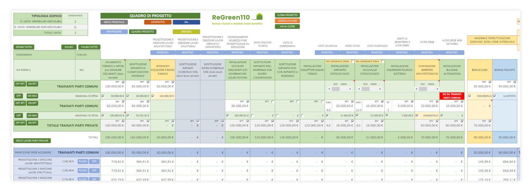Regreen110 quadro di progetto