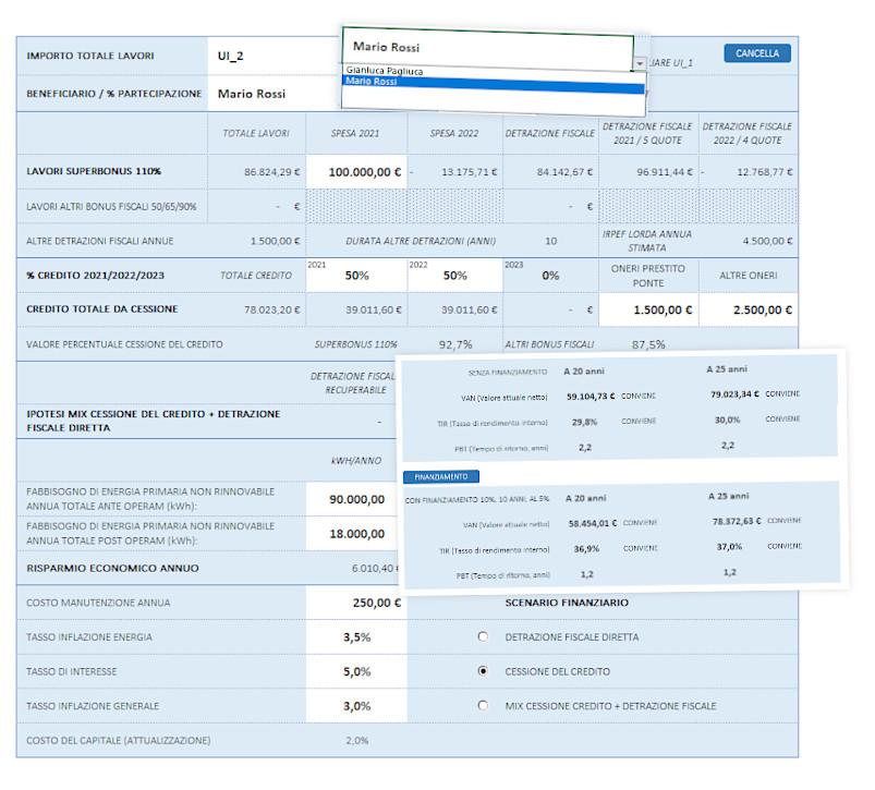 Superbonus 110 analisi costi benefici van