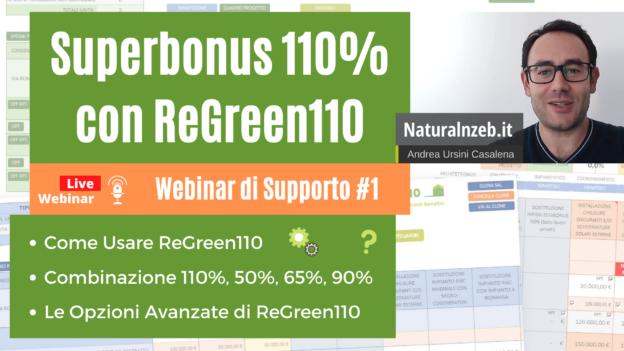 ReGreen110 webinar di supporto tecnico
