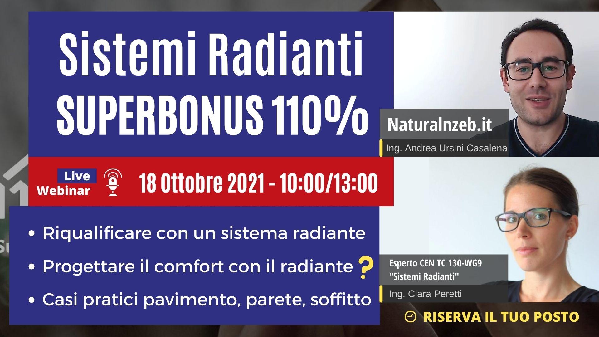 Sistemi Radianti con Superbonus 110% Corso Online